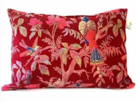 Cushion Paradise Rib Red