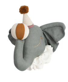 Dierenkop linnen circus olifant brown pompom hat Love Me Decoration