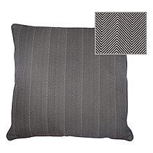 Kussen Stripes Black L