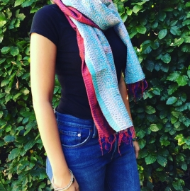 Sjaal kantha silk Lilly