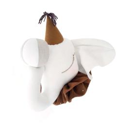 Dierenkop linnen circus olifant caramel hat, Love Me Decoration