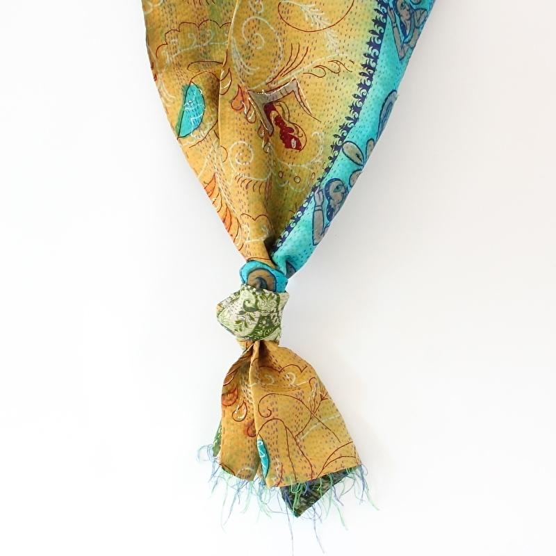 Sjaal kantha silk Mara