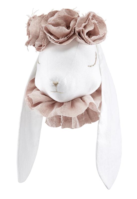 Dierenkop flower konijn, powder pink, Love Me Decoration