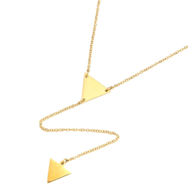 Ketting Triangle - Goud