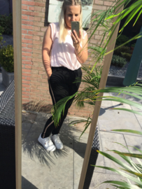 Comfy broek - Streep roze