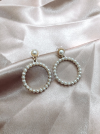 Earrings - Pearl round