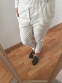 Pantalon krijtstreep - Wit