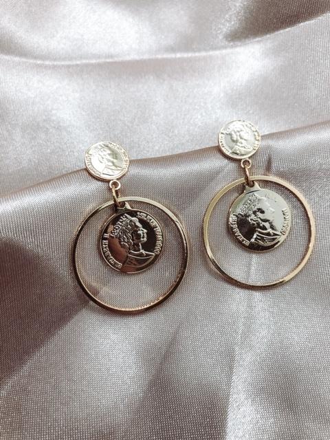 Earrings - Coin Coin
