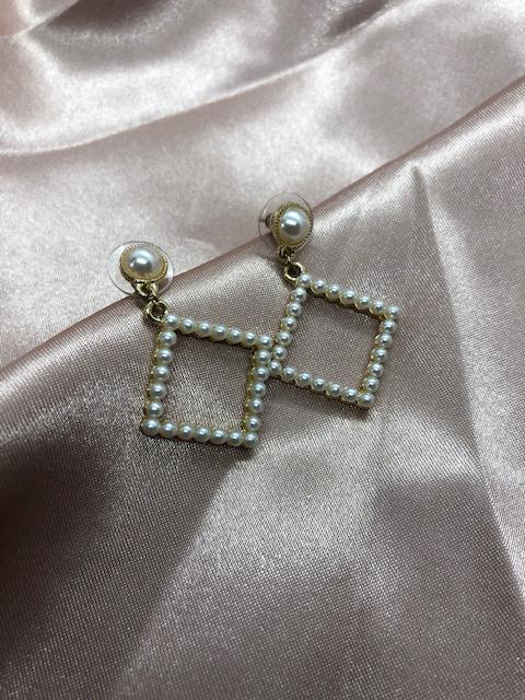 Earrings - Pearl Square