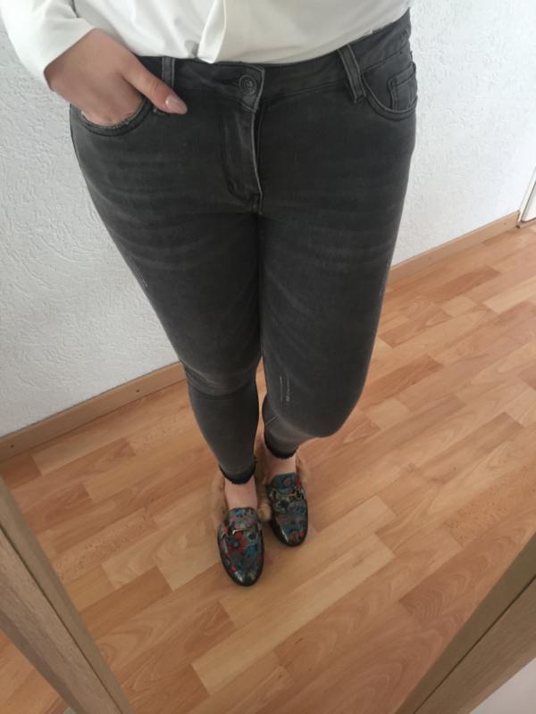 Ripped broek - Grijs