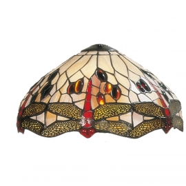 1100 Dragonfly Creme/rood 30cm