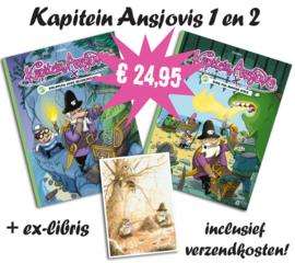 Kapitein Ansjovis 1 en 2 plus ex-libris