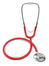 Stethoscoop rood