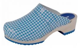 BIGHORN - 6006 CLOG ruit blauw