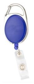 Badge jojo clip blauw mat