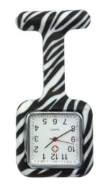 Zusterhorloge zebra (vierkant)