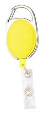 Badge jojo clip geel mat