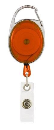 Badge jojo clip oranje transparant
