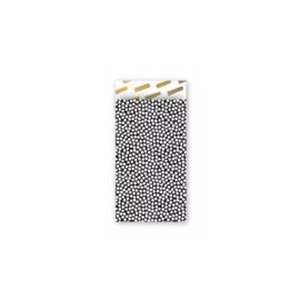 Zakjes zwart met witte stippen • 7x13 (5 stuks)