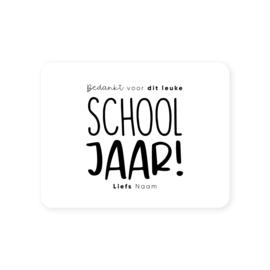 Gepersonaliseerde sticker • Bedankt voor dit leuke schooljaar! Liefs naam | 70x54