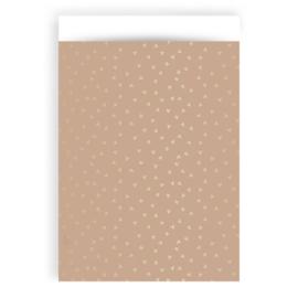 Zakjes hartjes roze & goud • 17x25 (5 stuks)