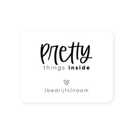 Gepersonaliseerde sticker • Pretty things inside | 70x54