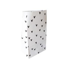 Blokbodem zakjes hartjes • 14x8x26