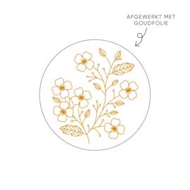 Sticker bloem • ø40mm (10 stuks)