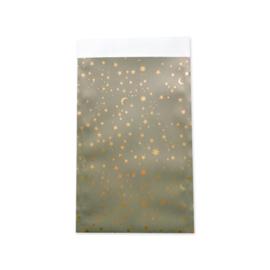 Zakjes sterren groen • 12x19 (5 stuks)