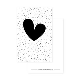 Minikaartje 85x55 • Hart met stippen