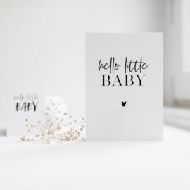 MINIKAARTJE | HELLO LITTLE BABY