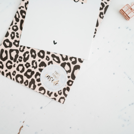 Zakjes luipaard nude • 12x19 (5 stuks)