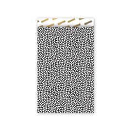 Zakjes zwart met witte stippen • 12x19 (5 stuks)