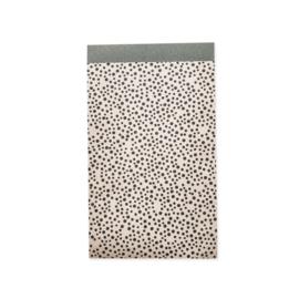 Zakjes creme met zwarte stippen • 12x19 (5 stuks)
