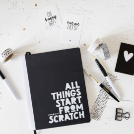 NOTITIEBOEK A5 | START FROM SCRATCH