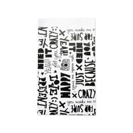 Zakjes tekst • 12x19 (5 stuks)
