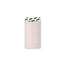 Zakjes roze met witte stippen • 7x13 (5 stuks)
