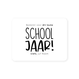 Gepersonaliseerde sticker • Bedankt voor dit leuke schooljaar! Liefs, juf/meester ... | 70x54