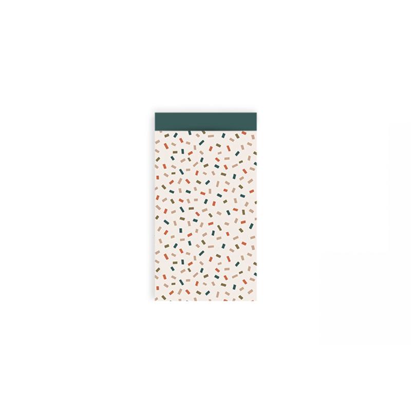 Zakjes confetti licht • 7x13 (5 stuks)