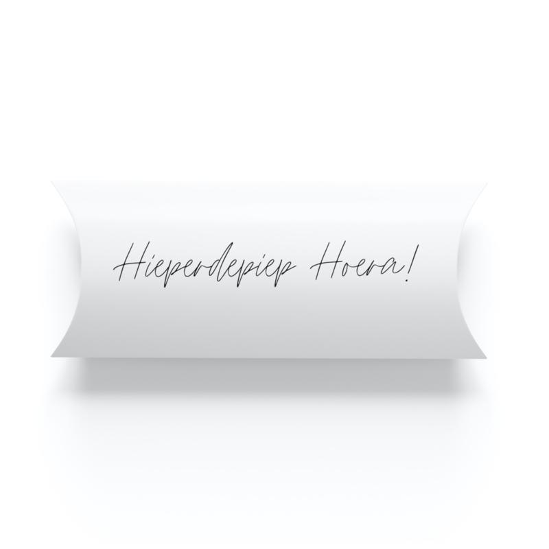 Geschenkverpakking • Hieperdepiep hoera