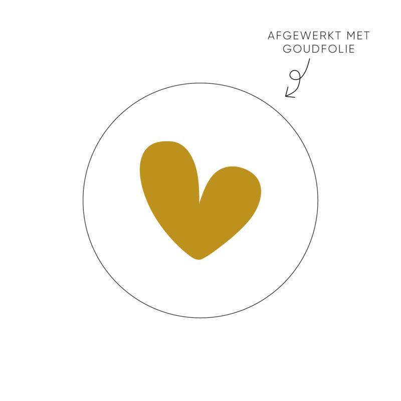 Sticker hart, wit (2) • ø40mm (10 stuks)