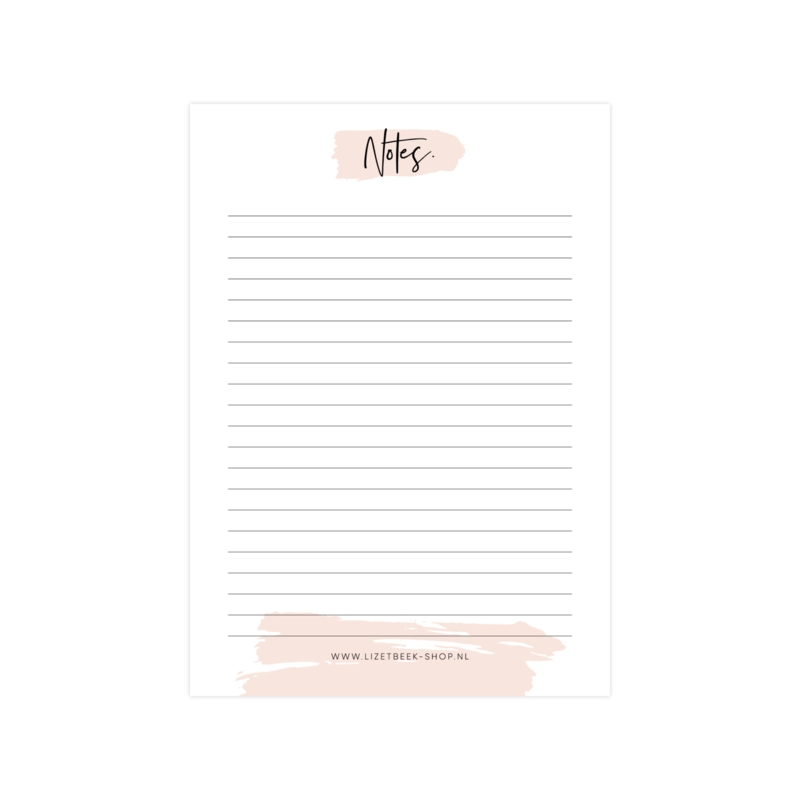 Notitiblok • Notes. (50 vel)