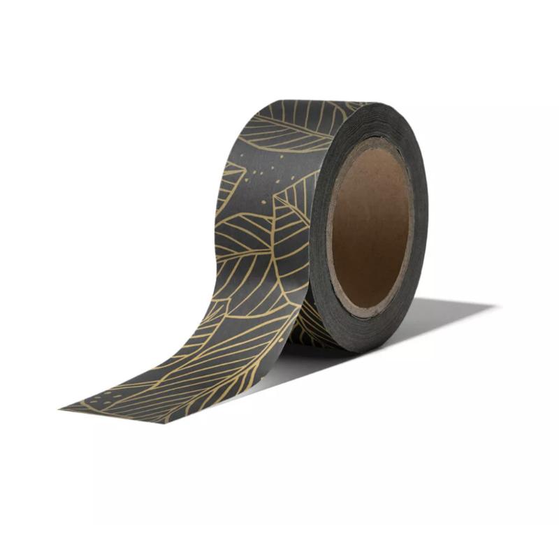 Masking tape • Zwart met gouden blaadjes