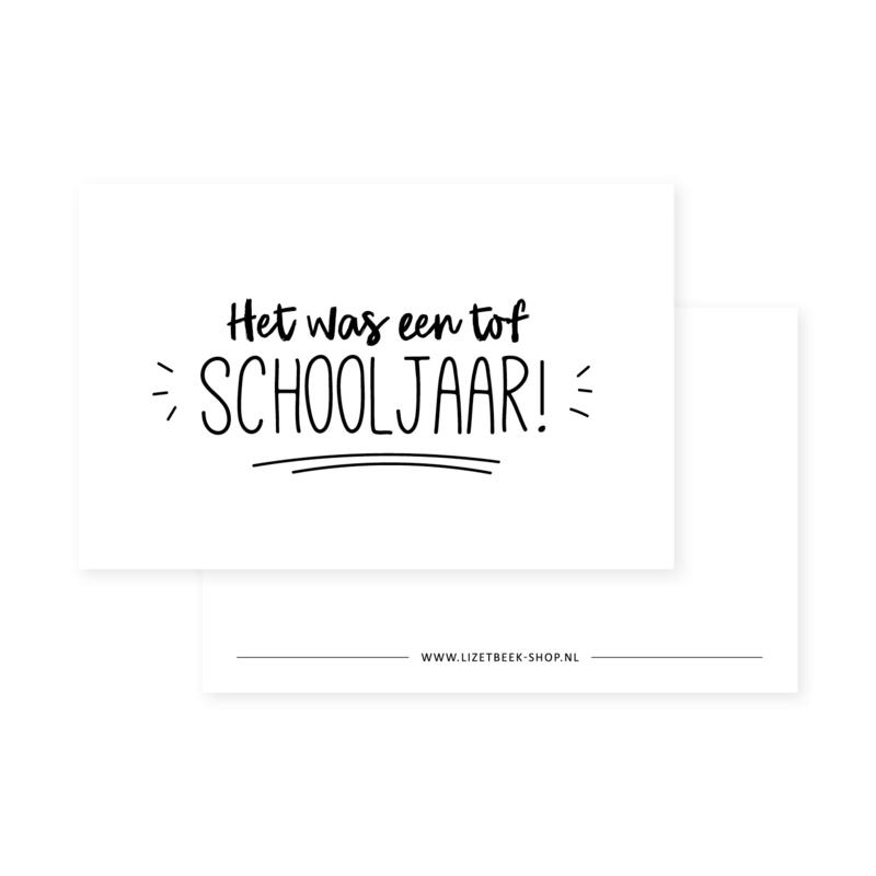 MINIKAARTJE | HET WAS EEN TOF SCHOOLJAAR!