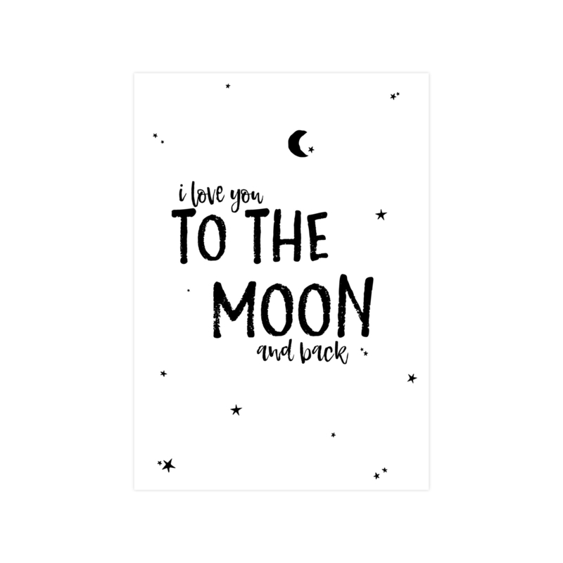 A4 Poster • I love you to the moon and back