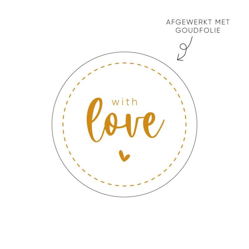 Sticker with love (wit) • ø40mm (10 stuks)