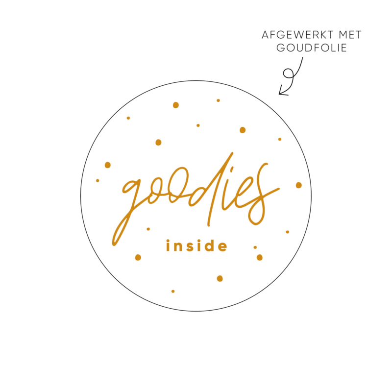 Sticker goodies inside • ø40mm (10 stuks)