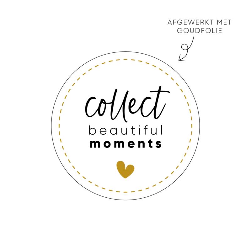 Sticker collect beautiful moments (2) • ø40mm (10 stuks)