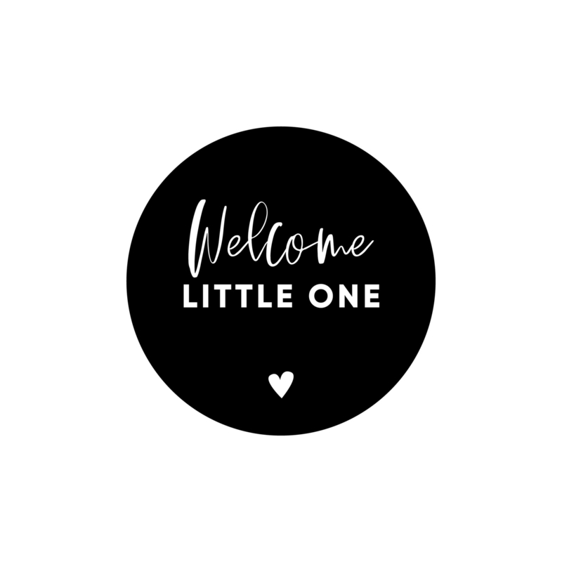 Stickervel Welcome little one • ø40mm (24 stickers)