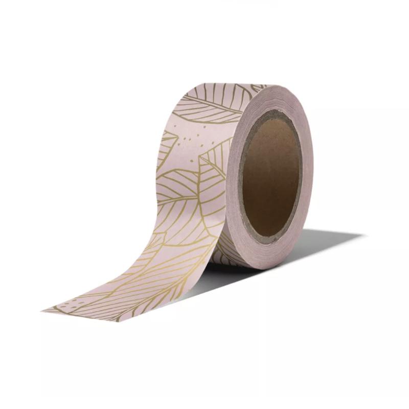 Masking tape • Roze met gouden blaadjes
